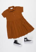 Superbalist - Girls printed shirt dress - orange