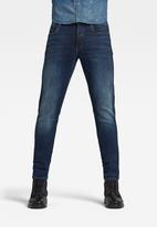 G-Star RAW - 3301 slim elto pure superstretch jeans - worn in dusk blue