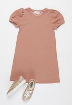 Superbalist - Girls puff sleeve dress - pink