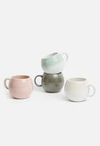 Sixth Floor - Bubble mug set of 4 - multi