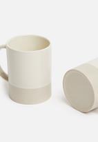 Sixth Floor - Terre mug set of 4 - white