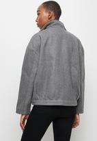 edit - Lapels melton jacket - grey