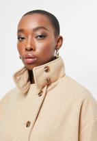 edit - Lapels melton jacket - beige
