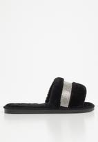 Miss Black - Rella 3 slipper - black