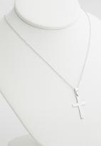 Superbalist - Sterling silver cross pendant necklace -  silver