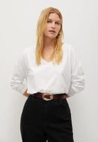 Violeta by Mango - Plus T-shirt yuzu - white