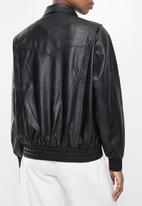Cotton On - Vegan leather panelled biker - black
