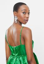 Blake - Fit&flare bubble dress - green