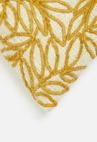 Sixth Floor - Leaf repeat cushion cover - cream & mustard