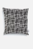 Sixth Floor - Hatch cushion cover -  charcoal & white