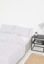 Sixth Floor - Check polycotton bedding pack - black & white