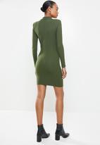 MANGO - Dress rosario - green