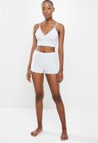 Missguided - Cami lace trim booty short pyjama set - grey