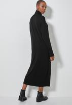 Superbalist - Poloneck dress with dropped shoulder - black