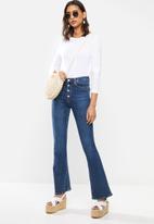 MANGO - Long sleeve T-shirt - white