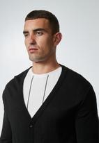 Superbalist - Lightweight button through cardigan - black