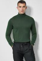 Superbalist - Basic roll neck slim fit knit - green