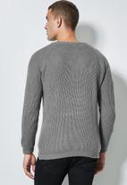 Superbalist - Raglan textured knit - grey