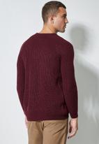 Superbalist - Raglan textured knit - burgundy