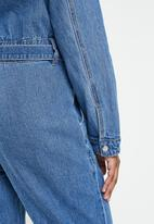 Missguided - Boiler button through jumpsuit - blue