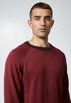 Superbalist - Sporty crew pullover knit jersey - burgundy