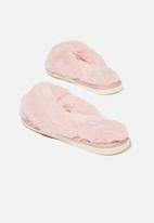 Cotton On - Knot crossover slipper - blush