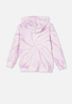 Cotton On - Charlie hoodie - pale violet tie dye