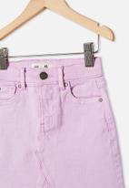 Cotton On - Finn denim skirt - pale violet