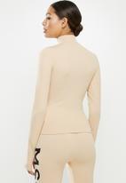 Missguided - Seamless rib jacket - beige