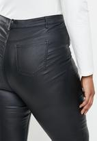 Missguided - Plus size split coated sinner skinny - black