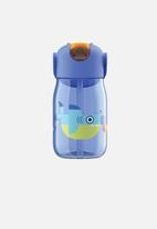 Zoku - Flip straw bottle - blue