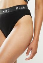 Missguided - Msgd bra high leg knickers set - black