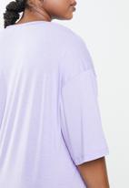 Cotton On - Curve active boyfriend tee - lilac