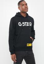 G-Star RAW - G-star hooded long sleeve sweat - black