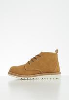 MINOTI - Boys nubuck boot - brown