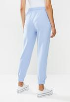 Cotton On - High waist track pants -  blue
