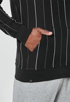 Superbalist - Maddox stripe pullover hoodie - black & white