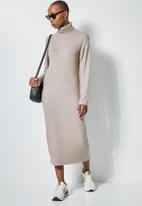 Superbalist - Dolman sleeve soft touch dress - brown