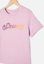 Free by Cotton On - Girls classic short sleeve tee - pale violet