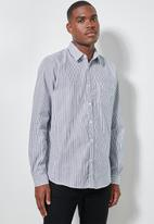 Superbalist - Barber regular fit stripe shirt - navy & white