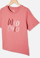 Free by Cotton On - Girls classic short sleeve tee - very berry