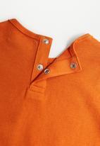 MANGO - Bear long sleeve tee - orange