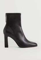 MANGO - Punto ankle boot - black