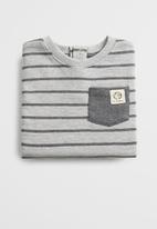 MANGO - Stripes sweatshirt - grey