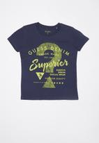 GUESS - Boys superior tee - blue