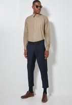 Superbalist - Jos slim fit long sleeve shirt - taupe