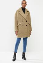 MANGO - Coat fano - brown
