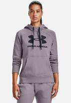 Under Armour - Rival fleece logo hoodie - slate purple
