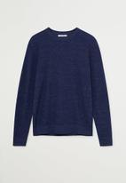 MANGO - Antigua sweater - navy