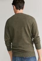 MANGO - Antigua sweater - khaki